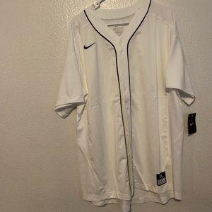 Plain White Nike Baseball Jersey